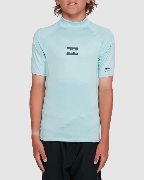 0 Boys All Day Wave Performance Fit Short Sleeve Rash Vest Blue 8703006 Billabong