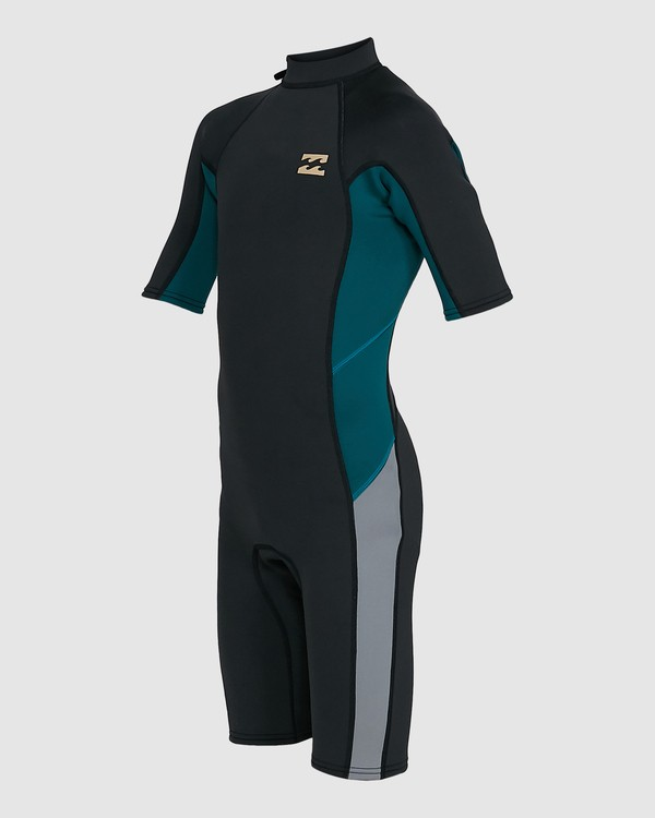 0 Boys 2/2 Absolute Flatlock Back Zip Short Sleeve Springsuit Black 8703400 Billabong