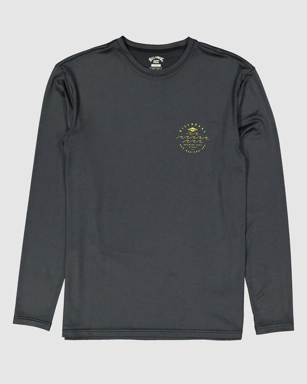 0 Boys Wavey Davy Loose Fit Long Sleeve Rash Vest Black 8704507 Billabong