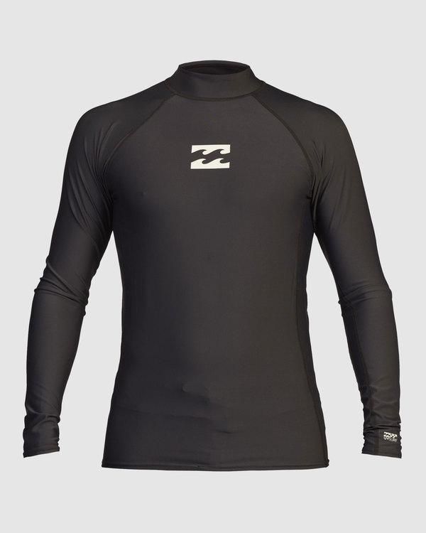 0 Boys 8-16 All Day Wave Performance Fit Long Sleeve Rash Vest Black 8713000 Billabong