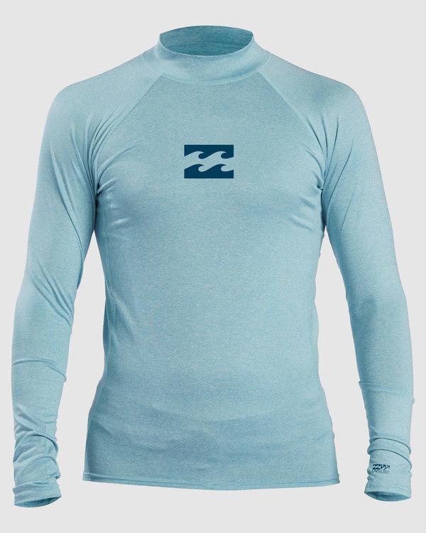 0 Boys 8-16 All Day Wave Performance Fit Long Sleeve Rash Vest Blue 8713000 Billabong