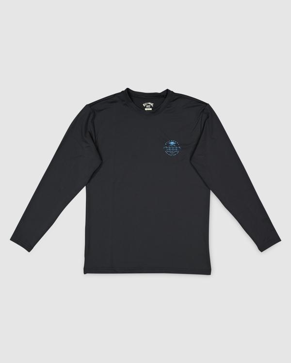 0 Boys 8-16 Wavey Davey Loose Fit Long Sleeve Rash Vest Black 8713002 Billabong