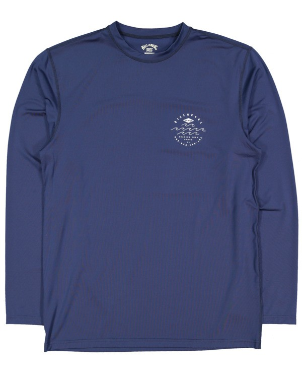 0 Boys 8-16 Wavey Davey Loose Fit Long Sleeve Rash Vest Blue 8713002 Billabong
