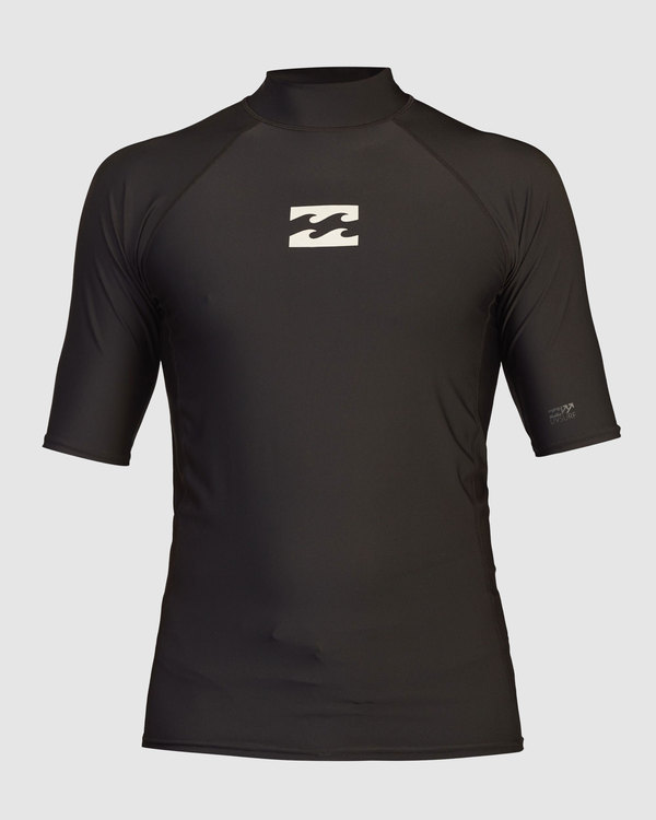 0 Boys 8-16 All Day Wave Performance Fit Short Sleeve Rash Vest Black 8713003 Billabong