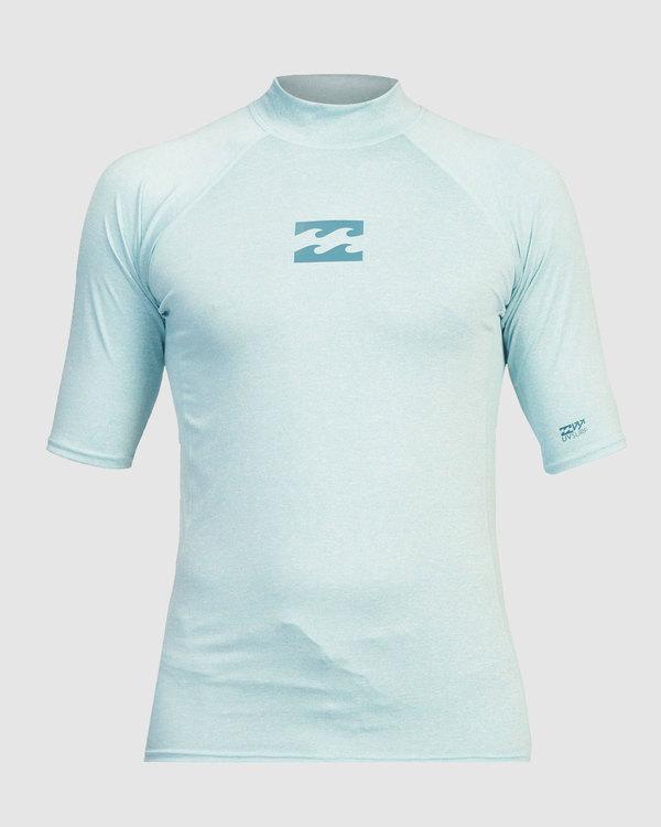 0 Boys 8-16 All Day Wave Performance Fit Short Sleeve Rash Vest Blue 8713003 Billabong
