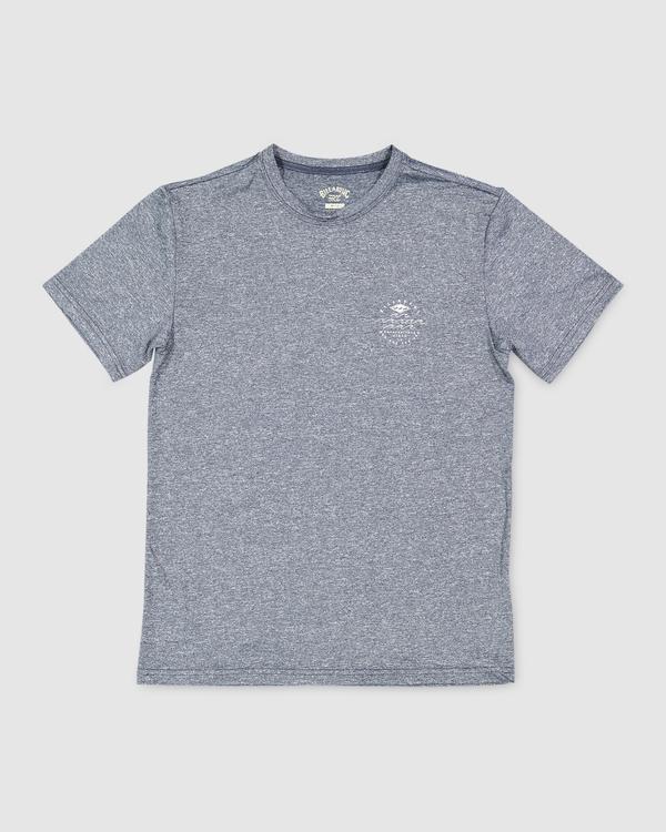 0 Boys 8-16 Wavey Davey Loose Fit Short Sleeve Rash Vest Blue 8713006 Billabong
