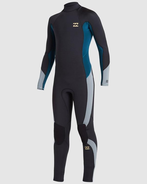 0 Boys 3/2 Absolute Back Zip Long Sleeve Gbs Fullsuit Black 8717810 Billabong