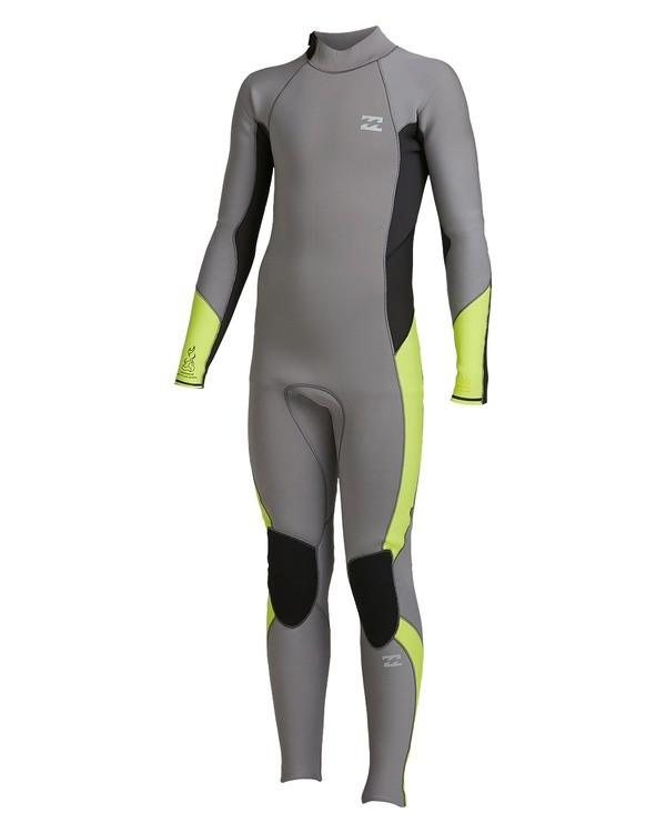 0 Boys 3/2 Absolute Back Zip Long Sleeve Gbs Fullsuit Grey 8717810 Billabong