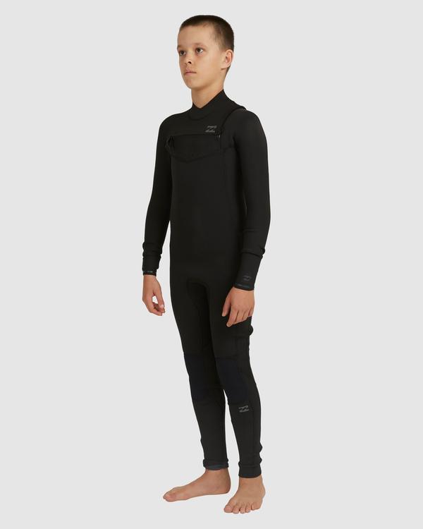 0 Boys 3/2 Revolution Chest Zip Long Sleeve Fullsuit Black 8717820 Billabong