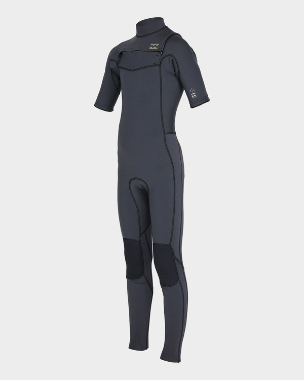 0 BOYS 202 REVOLUTION CHEST ZIP FULLSUIT Black 8795620 Billabong