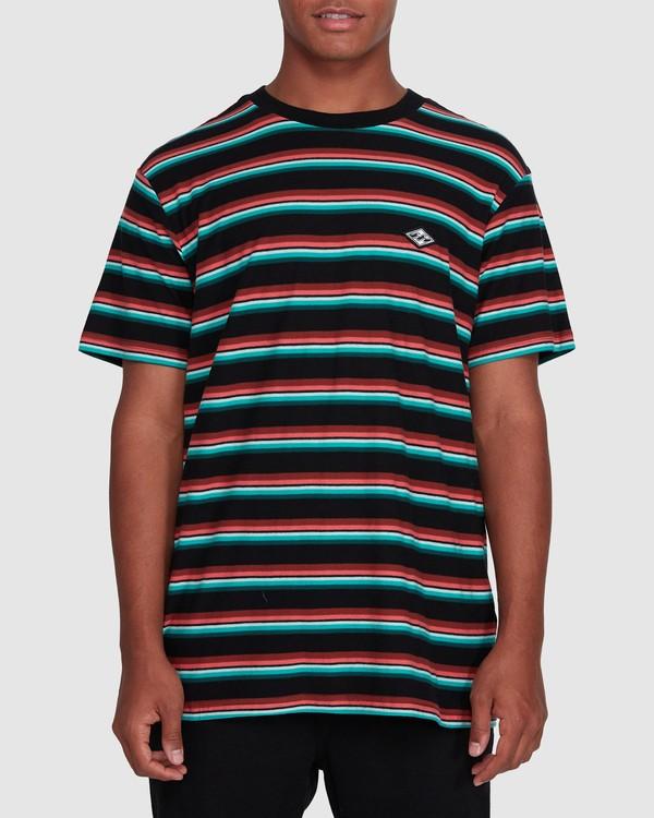 0 Die Cut Stripe Short Sleeve Crew Black 9503000 Billabong