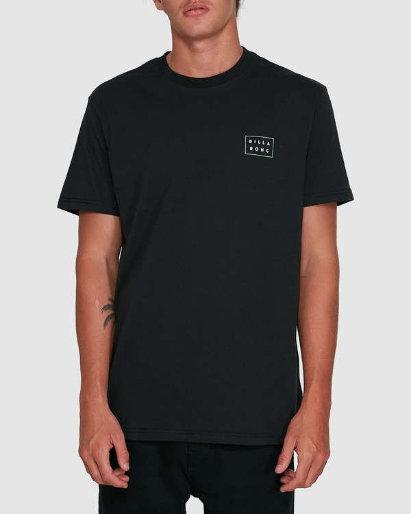 0 Die Cut Theme Short Sleeve Tee Black 9503013 Billabong