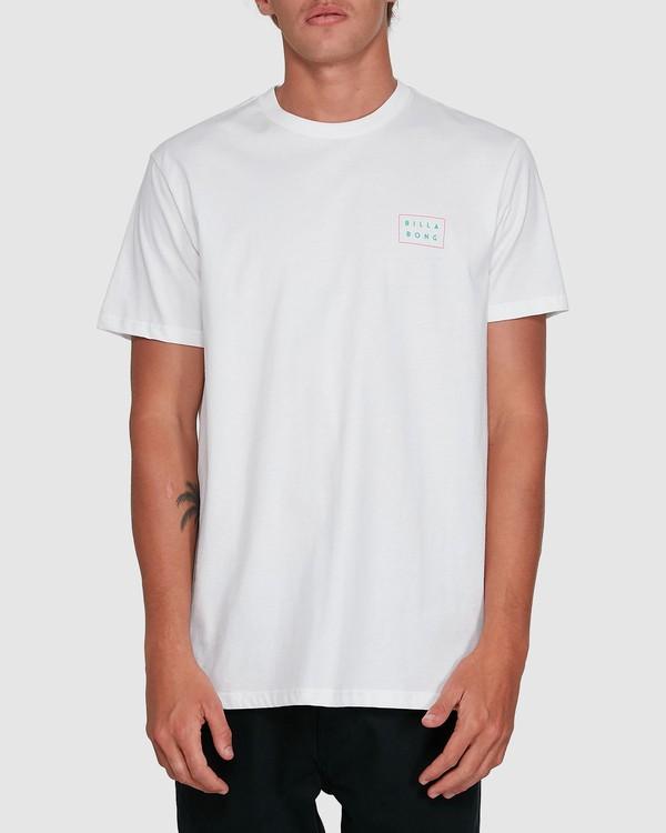 0 Die Cut Theme Short Sleeve Tee White 9503013 Billabong