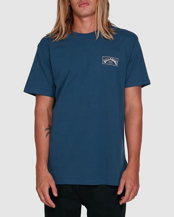0 Boxed Arch Short Sleeve Tee Blue 9503014 Billabong