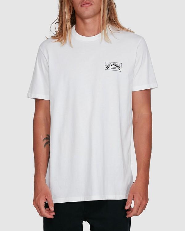 0 Boxed Arch Short Sleeve Tee White 9503014 Billabong