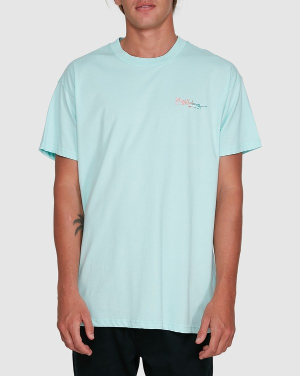 0 Crayon Wave Short Sleeve Tee Green 9503016 Billabong
