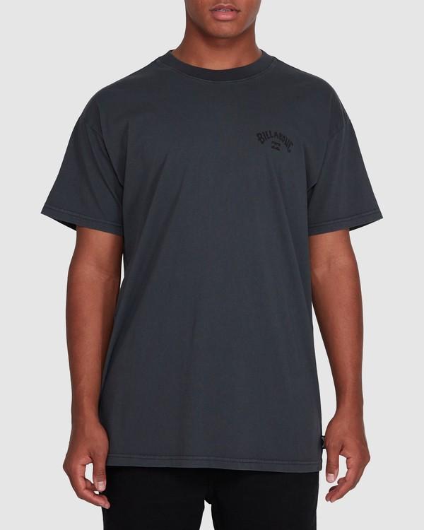 0 Arch Overdye Short Sleeve Tee Black 9503029 Billabong