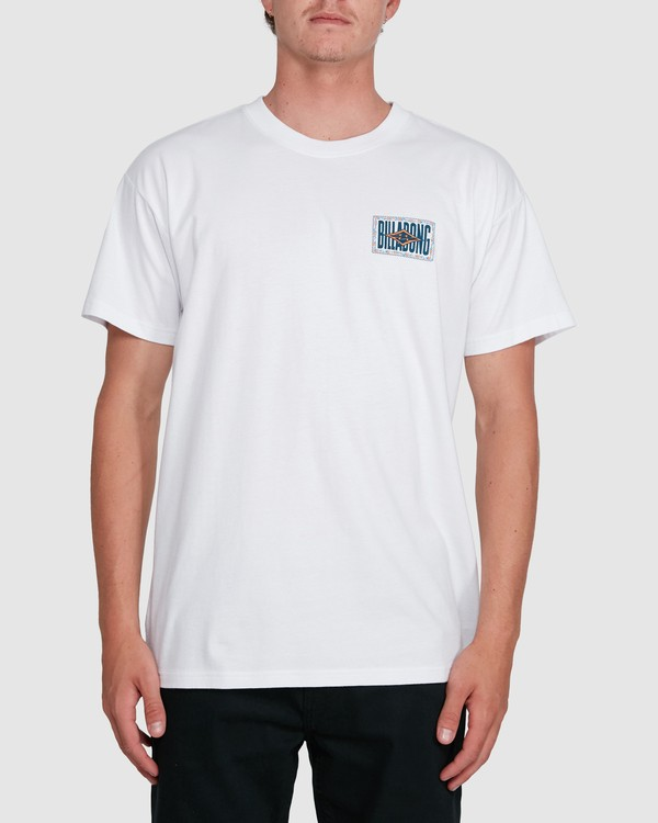 0 Shadows Short Sleeve Tee White 9503034 Billabong