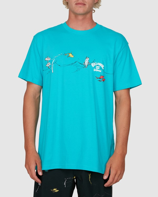0 Dr. Seuss One Fish Two Fish Tee Blue 9503080 Billabong