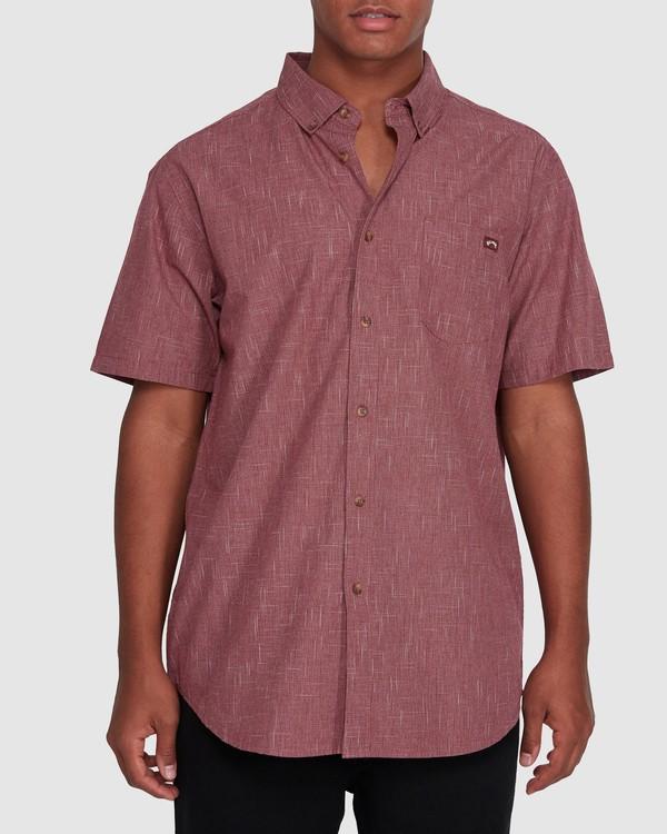 0 All Day Short Sleeve Shirt Red 9503200 Billabong