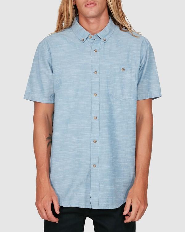 0 All Day Short Sleeve Shirt Blue 9503200 Billabong