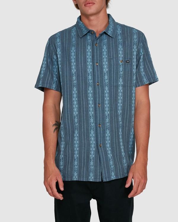 0 Sundays Jacquard Short Sleeve Shirt Blue 9503204 Billabong