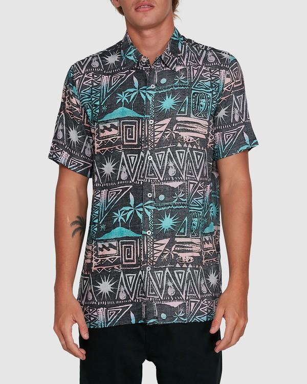 0 Sundays Tribes Short Sleeve Shirt Grey 9503207 Billabong
