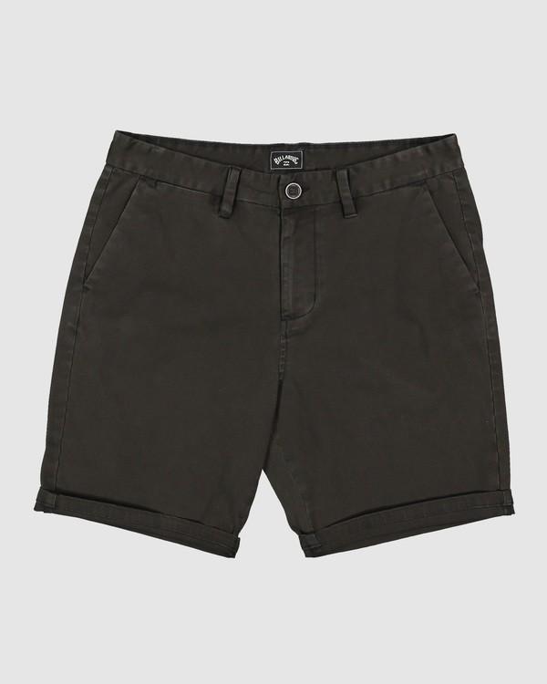 0 Wave Wash Twill Shorts Black 9503706 Billabong