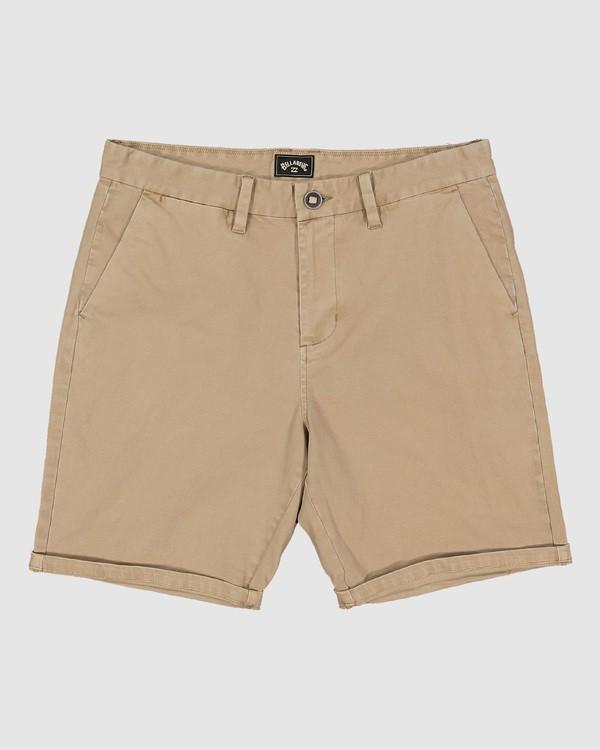 0 Wave Wash Twill Shorts Green 9503706 Billabong