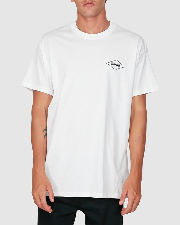 0 Checked Diamond Short Sleeve Tee White 9504008 Billabong