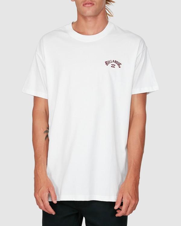 0 Wave Arch Short Sleeve Tee White 9504022 Billabong