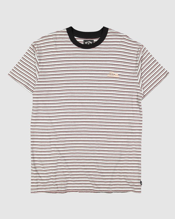 0 Understated Stripe Short Sleeve Tee White 9504025 Billabong