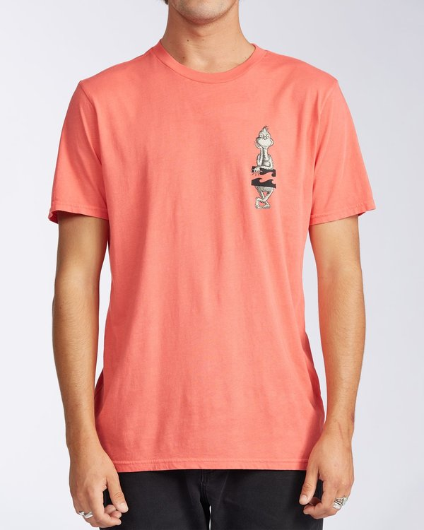 0 Shaka Grinch Short Sleeve T-Shirt Red 9504061 Billabong
