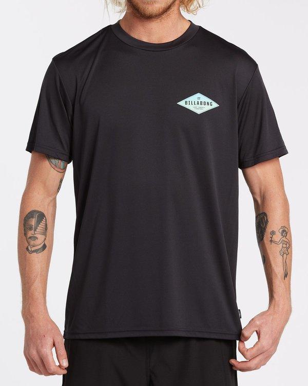 0 Surf Supply UV Short Sleeve Surf Shirt Black 9504092 Billabong