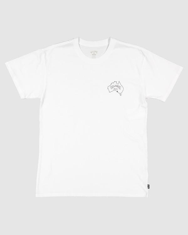 0 Aus Arch Short Sleeve Tee White 9504101 Billabong