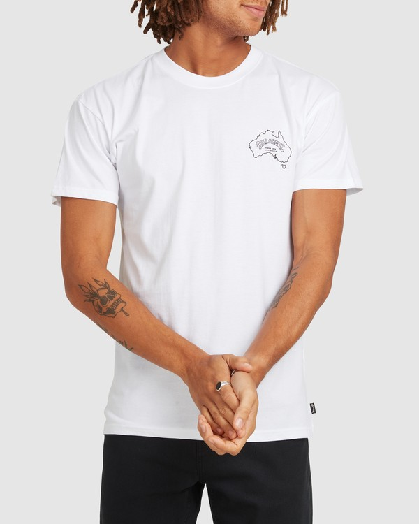 0 Aus Arch Short Sleeve Tee White 9504101 Billabong