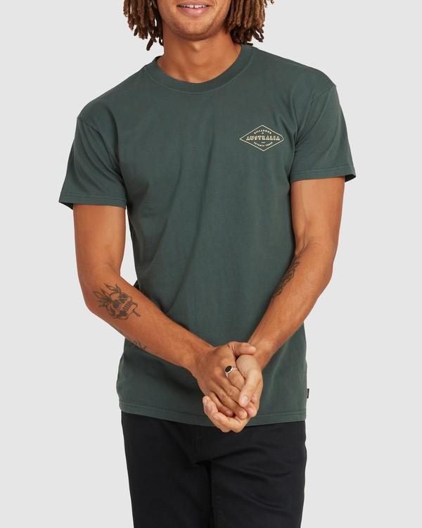 0 Aus Diamond Short Sleeve Tee Green 9504102 Billabong