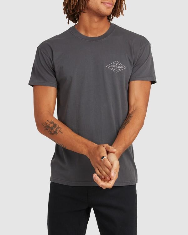 0 Aus Diamond Short Sleeve Tee Black 9504102 Billabong