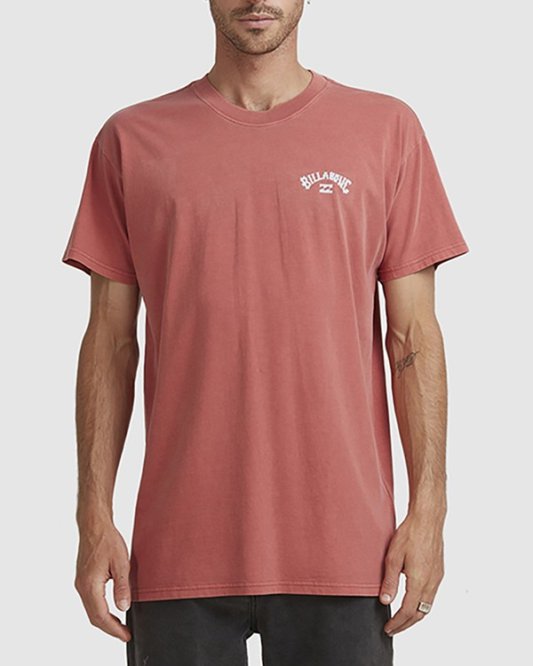 0 Wave Arch Tee Brown 9504107 Billabong