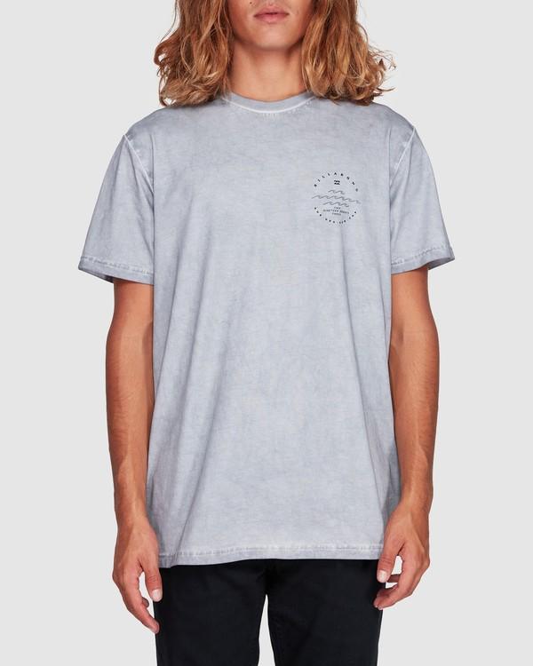 0 Wavy Davy Short Sleeve Tee Grey 9507001 Billabong