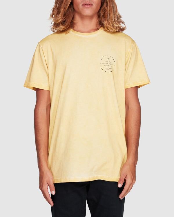 0 Wavy Davy Short Sleeve Tee Yellow 9507001 Billabong