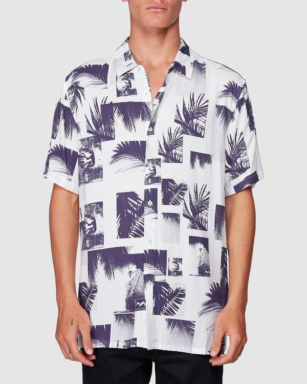 0 Sundays Thrashin Party Short Sleeve Shirt White 9507218 Billabong