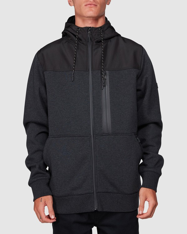 0 Quadrant Furnace Zip Black 9507621 Billabong