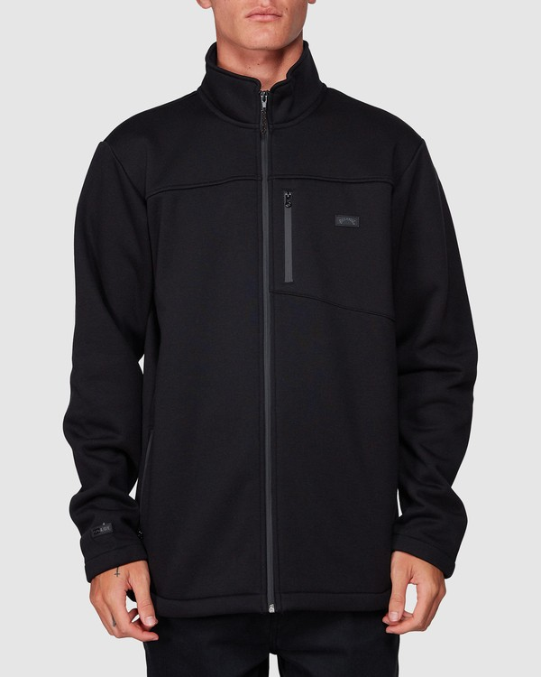 0 Adiv Mainland Zip Thru Hoodie Black 9507626 Billabong