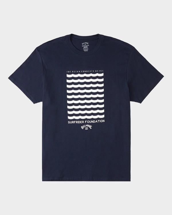0 Surfrider Waves Short Sleeve T-Shirt Blue 9508072 Billabong