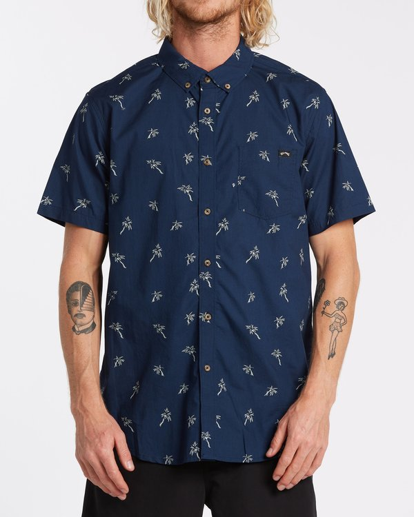 0 Sundays Mini Short Sleeve Shirt Blue 9508202 Billabong