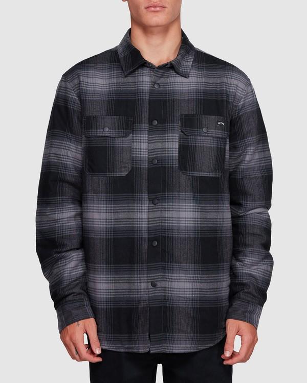 0 Nevermind Long Sleeve Flannel Shirt Grey 9508203 Billabong