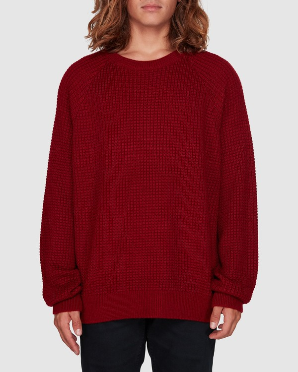 0 New Brighton Crew Knit Red 9508800 Billabong