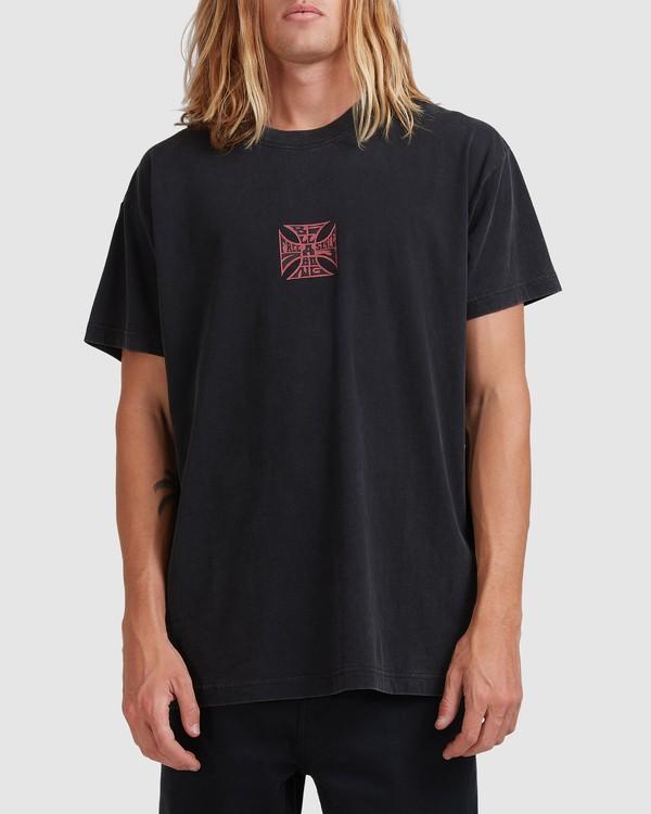 0 Crossed Up Short Sleeve Tee Black 9513022 Billabong