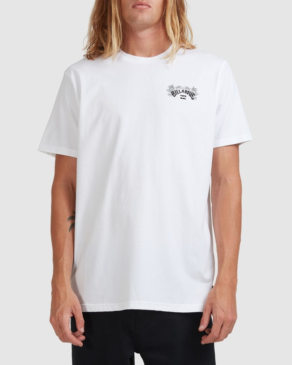 0 Arch Fill Short Sleeve Tee White 9513046 Billabong